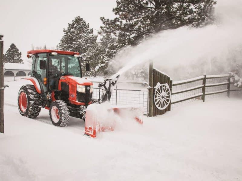 Kubota L3560 Cab Snow Blower